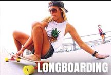 Longboarding / Push, kick, push, kick, push, kick...and coast. Whether it's hitting the open road, grinding a rail, or bombing a steep hill, here you'll find longboarding and skateboarding inspiration (photos, images, videos and articles) for the next time you or the skate boy or girl in your life shreds the gnar.