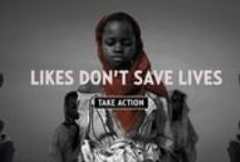 Likes Don't Save Lives / Take action and help us end genocide and crimes against humanity.