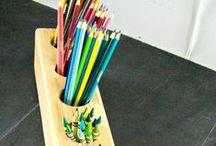 Børnenes træværksted / Denne opslagstavle er til ideer til træværkstedet med mine børn; alder 5-8 år
