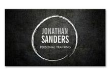 Business Cards for Personal Trainers / Marketing materials and customizable business card templates for personal trainers, yoga instructors and health & fitness businesses.