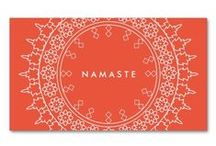 Business Cards for Yoga Teachers, Yoga Studios / Marketing materials and customizable business cards for yoga instructors, health and wellness businesses, alternative medicine and naturopaths.