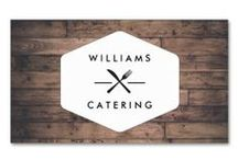 Business Cards for Catering Companies, Chefs and Restaurants / Marketing materials and customizable business card templates for personal chefs, catering businesses, restaurants and bakeries.