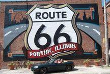 Road Trip USA / Projet pour un été ou plus...Partir, Traverser les USA, suivre la route 66 et voir du pays, remonter en longeant la cote ouest et traverser le Canada pour revenir a Montréal , idealement en décapotable.... / by Louise Aquin