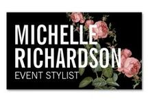 Business Cards for Event Planners and Wedding Planners / Customizable business cards for event planners, party planners and wedding planners.