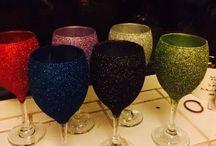 Projects /  Glitter glasses/bottles I've made xx