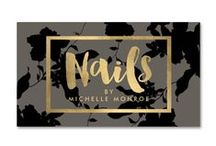 Business Cards for Nail Salons / Ready-made Business Cards and Marketing Materials Designed for Nail Salons, Nail Artists, etc.