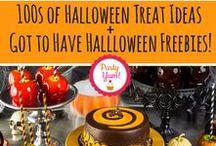 Halloween Freebies + Treats / www.partyyum.com