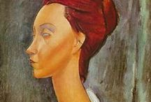 Amedeo Modighliani / Amedeo Clemente Modigliani (12 July 1884 – 24 January 1920) was an Italian Jewish painter and sculptor who worked mainly in France. He is known for portraits and nudes in a modern style characterized by elongation of faces and figures.