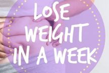 Lose Weight in a Week / Lose weight in a week with these diet, weight loss, fitness, workout and other tips to help with fast fat loss.
