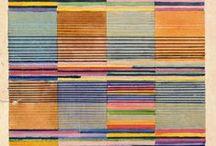 moderne tapijten / Gabbeh, vintage kleden, Suzani, lompenkleden en modern abstract / by Anne Marie