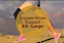 Copper Knee Support XX-Large / CopperJoint Copper Knee Support - Professional Elastic Compression & Support for Women, Men, Kids - Best Sock or Wrap for Running, Volleyball, Basketball, Dance, Crossfit, Squats, Lifting, Arthritis or Under Brace - 60 Day Extended Warranty - PREMIUM Quality! 1pc - XX-Large