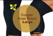 Copper Knee Brace Large / CopperJoint Copper Knee Brace - Professional Elastic Compression & Support for Women, Men, Kids - Best Sock or Wrap for Running, Cycling, Volleyball, Basketball, Dance, Crossfit, Squats, Soccer, Gym Exercise, Arthritis or Under Brace - Extended Warranty - PREMIUM Quality! - Large