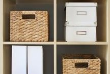Organization / Maximize space and maintain a zen home with these organizational tips.