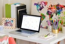 Home Office Ideas / Ideas for creating a comfortable, organized workspace at home