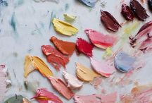 Palette and watercolors / Simplicity and beauty