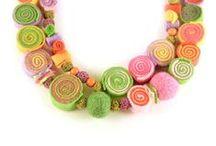 Bead A Boo Statement Felt Necklaces / My Bead A Boo statement felt necklaces. Find them here https://www.etsy.com/shop/BeadABoo