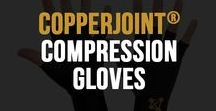 Compression Gloves / CopperJoint™ Copper Compression Gloves not only offers great support and pain relief, but are also super-comfortable and breathable [advanced fabric design], so you are supported with comfort; not like other Compression Gloves that get hot & sweaty. Read more - http://www.copperjoint.com/compression-fingerless-gloves/