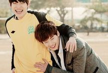 Smile (mostly pictures of Kim Woo Bin and Lee Jong Suk)