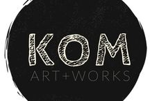 Artworks.KOM / MY ART BRUT , collage, creatures and colour. In process and completed works.