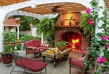 * Outdoor Fireplaces & Pits! * / by Lucy Bishop