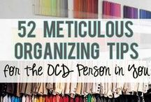 Organization Hints & Tips / Do you feel that your lack of organization sometimes keeps you from focusing on the things that are important to you? Get organized and feel more in control of your life.  Learn how to store things, manage paperwork and manage time!