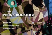 """Inspired SS2015 Phunk Booster (Lux Sport) / G. Levin's Jackin House """"Phunk Booster"""" Playlist production inspire sources."""