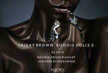 """Inspired SS2015 Boogie Dolls (70 N' 90) / Friday Brown's Boogie House """"Boogie Dolls"""" Playlist production inspire sources."""