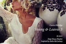 """Inspired SS2015 Young & Leaves (Artblooms) / Carrie Eldridge's Deep House """"Young Leaves"""" Playlist production inspire sources."""