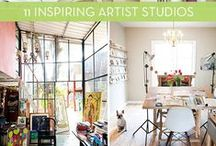Art Studios / Ideas for setting up an inspirational space