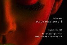 """Inspired Summer 2015 Expresions (Lux Sport) / miccarr's Deep House """"Expressions"""" Playlist production inspire sources."""