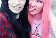 Princess Bubblegum and Marceline Cosplay