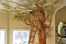 016  DIY:  Make an Indoor Tree / ideas, tutorials, and inspiration for making large or small trees from mixed media for beautiful home decor / by Nancy King-Badran