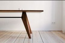 I WOOD TABLES I / Wooden tables, wood dining table.  Tables en bois.  #wood #table #bois