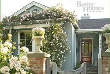 Front Porch & Curb Appeal / You've heard that people judge a book by its cover. Similarly, they judge a house by it's front porch. This is especially important if you're selling. Here are a plethora of ideas to improve your curb appeal.
