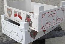 Cajas de madera / Cajas de madera decoradas con telas, pintura, papel... para diferentes usos