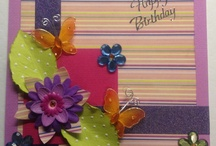 Handmade cards with flowers