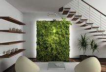 Living Walls and Vertical Gardens / How growing flora and fauna vertically creates unusual gardens. It also becomes a piece of art in many cases.