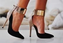 """Shoes amuse me... / """"Give a girl the right pair of shoes & she can conquer the world""""- Marilyn Manroe"""
