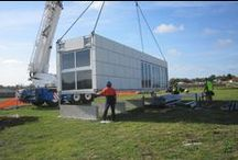Portable Houses / Examples of portable, mobile, and transportable tiny houses, cabins, offices