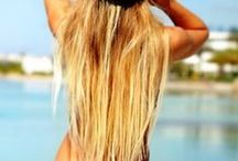 blond long hair / beach blond