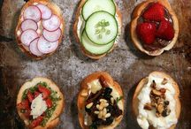 Sandwiches, baguettes, toast