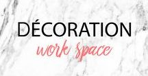 DECO BUREAU ▲ WORKSPACE : idées de décoration pour bureau, working girl, ideas, inspirations / Idées pour décorer son bureau, idées d'organisation, working girl workspace Ideas, tips and inspirations to organize workspace