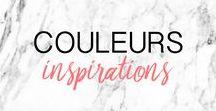 COLORS ▲ COULEURS : inspirations, idées, inspiring / Des idées inspirantes de couleurs et combo, un seul mot : couleur couleur couleur ! Idea of color combination and color inspiration ▲