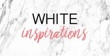 WHITE INSPIRATION ▲ inspirations blanc, tendances, moodboard / Inspirations BLANC, tendances, moodboard, que du blanc ! White inspirations, trends