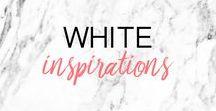 WHITE INSPIRATION ▲ inspirations blanc, tendances, moodboard / Inspirations BLANC, tendances, moodboard, que du blanc ! White inspirations, trends