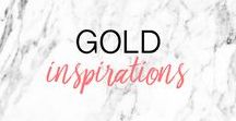 GOLD INSPIRATION ▲ inspiration or, doré, tendances, moodboard / Gold inspiration and trends Inspiration dorée, moodboard, tendances et idées or
