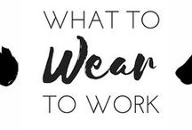 WHAT TO WEAR TO WORK / Don't know what to wear to work? Follow this board for a never ending list of ideas of what to put on each morning before work. twenty something, 20 something, career, job, millennial, resume, cover letter, interview, casual friday