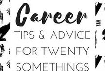 CAREER TIPS & ADVICE FOR 20 SOMETHINGS / Tips, resources and advice for twenty somethings struggling to find a job, succeed in the workplace and figure out what their next step in life is. Pins to this board will include resume tips, interview questions, what to wear to work, and more. career, job search, resume, cover letter, new job, career, intern, work