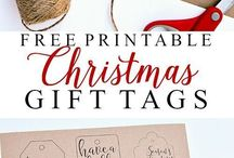 Xmas Free printables & wrapping ideas