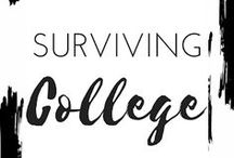 SURVIVING COLLEGE / Tips and advice for college students, college applicants and anyone looking for advice from twenty somethings who survived college. This board will cover exams, essays, grades, college life, and more!  college students, college tips, colleges, study tips, productivity, college life